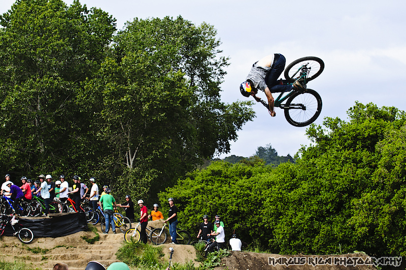 Last year's Sea Otter Classic bike festival was capped off by the annual Aptos Post Office Jam. Brandon Semenuk, giving everybody a reason to work harder in the New Year.