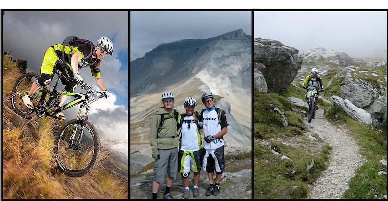 Katja riding 2010 also together with Ross Schnell and Rene Wildhaber