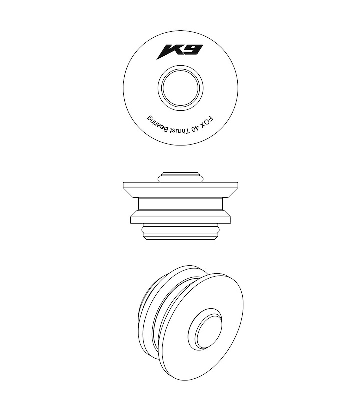 Much like you may have seen on some rear shocks, K9's fork bearings allow the spring to turn freely under compression.