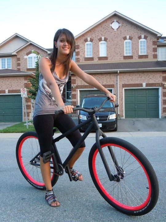 My sexy girl on my sexy bike. kinda hot.... its like a threesome