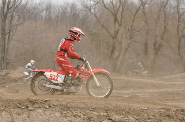 bottomed out on my crf250r!!