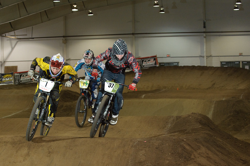 Ben Friesen, Liam Wallace and Hunter Welykholowa about a second before piling into turn#2