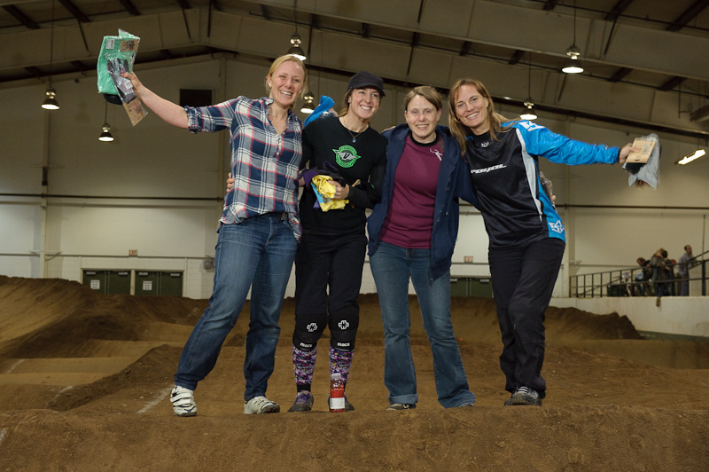 The Open Ladies Class always gets tons of prizes! They were all smiles Tuesday night.