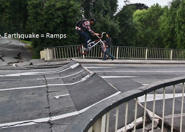 barspin on the bridge after the quake