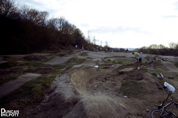 Pumptrack taking shape. Photo Credit Duncan Philpott