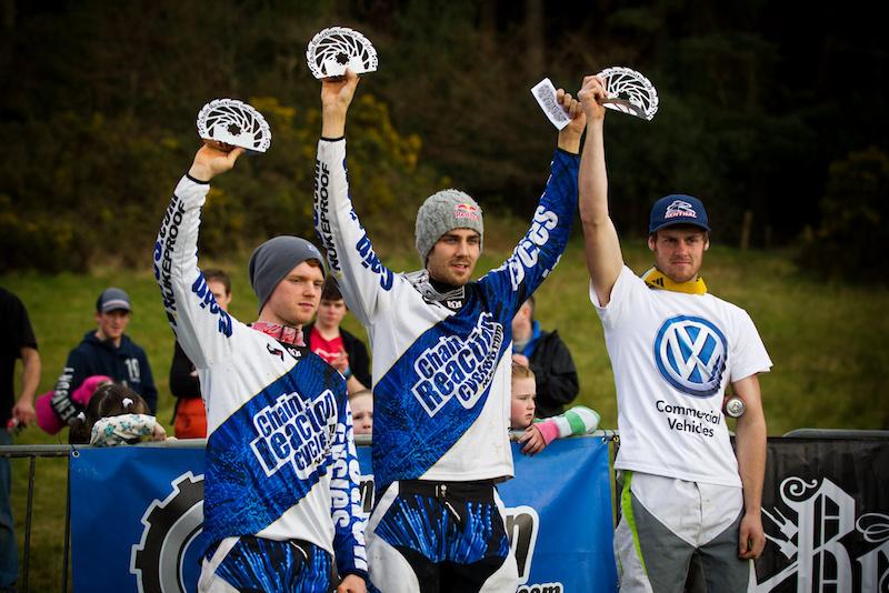 The Elite podium... left to right Joe Smith, Matti Lehikoinen, Dan Wolfe