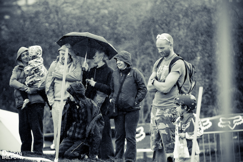 Some were better prepared for the rain than others