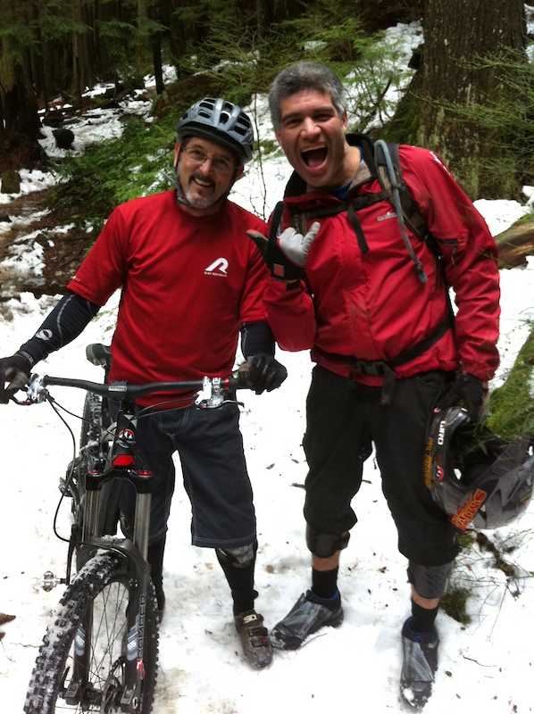 RC and Tippie - Two Hall Of Famers out shredding in the snow on Seymour