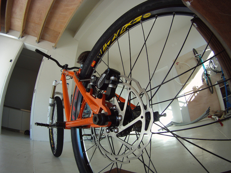 got new brakes and rotor cause i bent my jucy ultimate body leaver