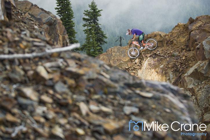 Ryan Hayes in the Garbo zone, Whistler Bike Park