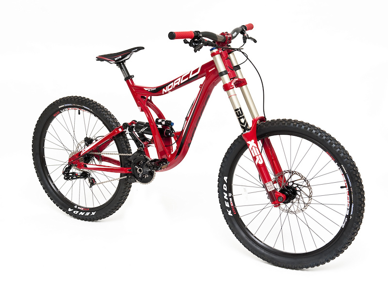 Norco DH looking very red and very fast with a rockin' build from SRAM