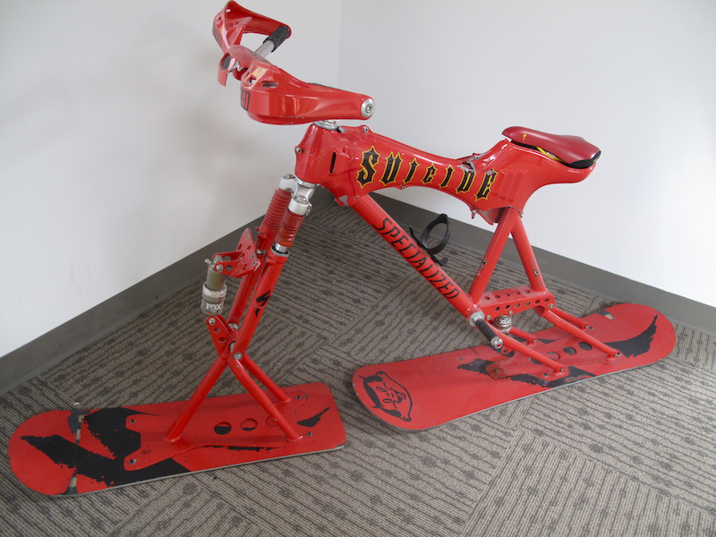 Ski bikes have never really caught on, but this thing is bad ass.