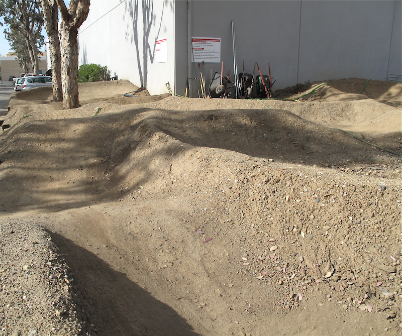 Just behind the building is a <i>massive</i> pump track that is open for all employees to ride. Video by Brett Hornfelt.