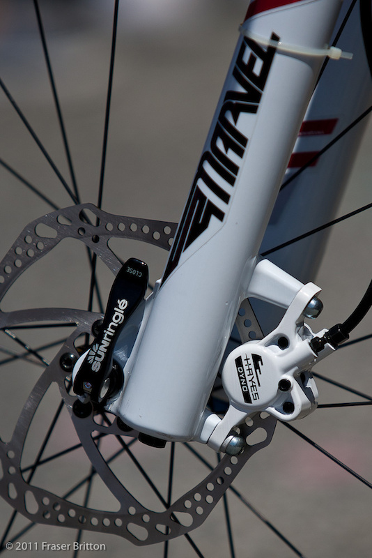 The Dyno caliper and lever uses the same fittings to bleed, as well as the same simple process as previous Hayes models. While the new brake will be an original equipment model only for the upcoming year, you can expect it to be packaged for retail sales by 2012.