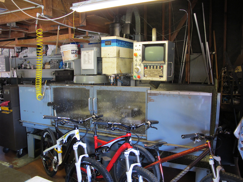 This is the cnc machine that got everything started.  Along with a plethora of Specialized bikes.
