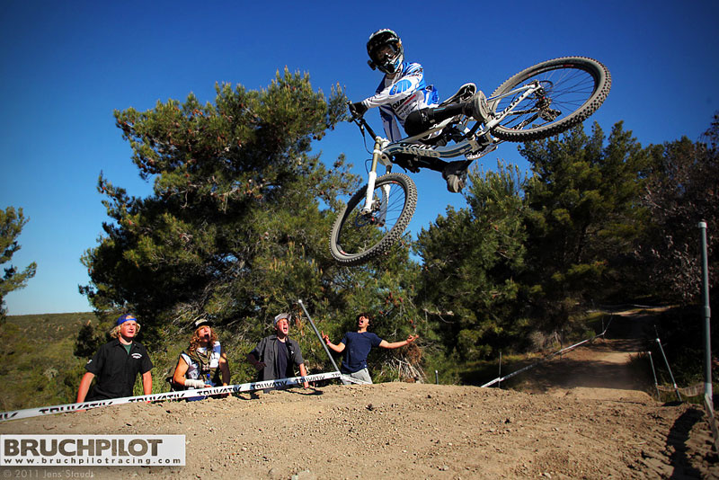Danny Hart getting sideways on the 2011 Seaotter Downhill. For tons of more pictures visit: 