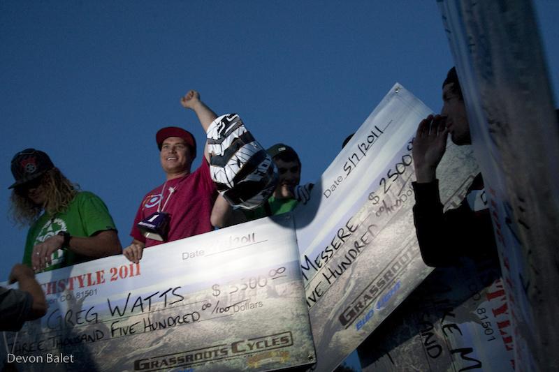 Ranchstyle Pro Slopestyle podium.