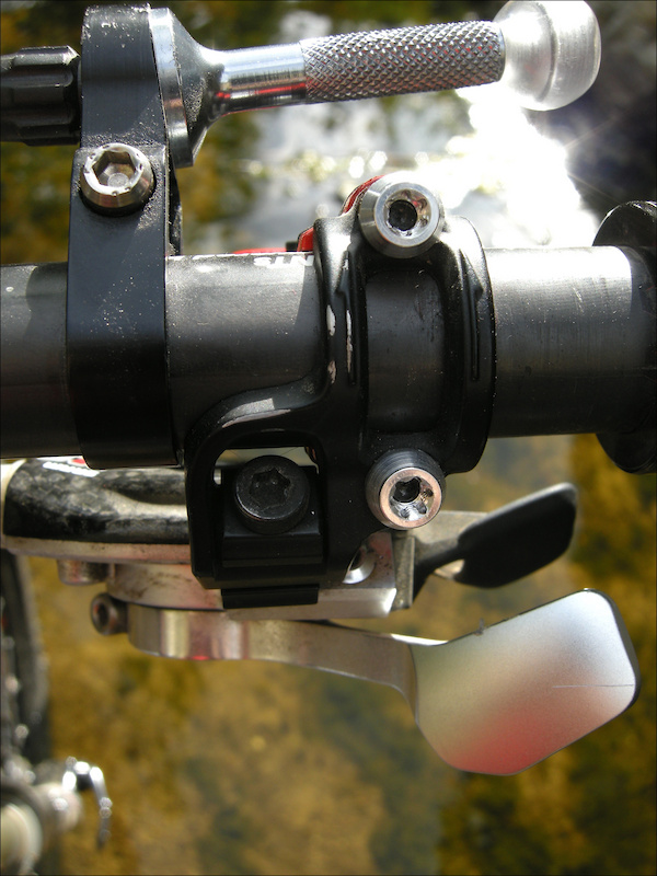 Magura offers a direct-mount clamp for SRAM shifter pods that is also injection-molded carbon fiber.