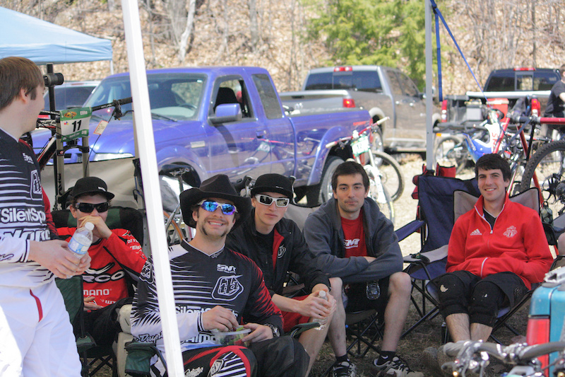 36. The Silent Norco Race Team pits at Horseshoe.