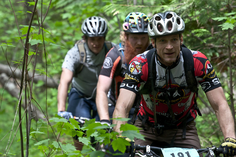 Unlike many marathon XC races the Nimby Fifty had very little road riding and was almost all single-track.