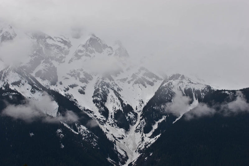 The clouds start to part around Mount Currie
