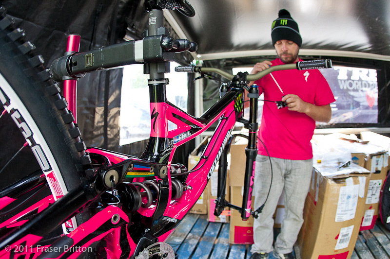 Jacy keeps the wheels turning for the monster energy specialized