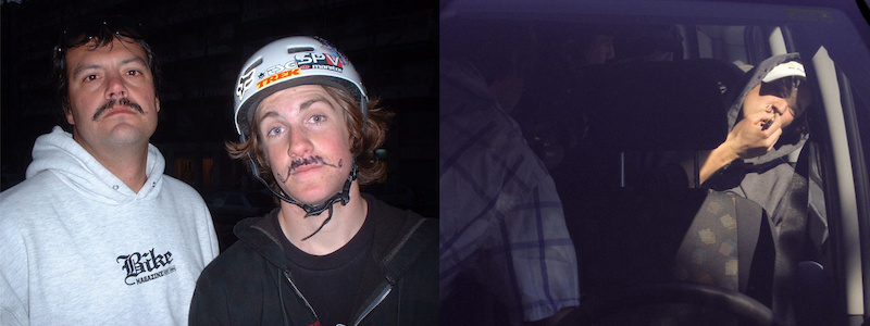 In 2005 I went to Barcelona with Cam and Jim. I had a moustache, and Jim drew one on Cam, everything was good until Cam decided Jim should have one as well. It's now 2011 and nothing has changed...