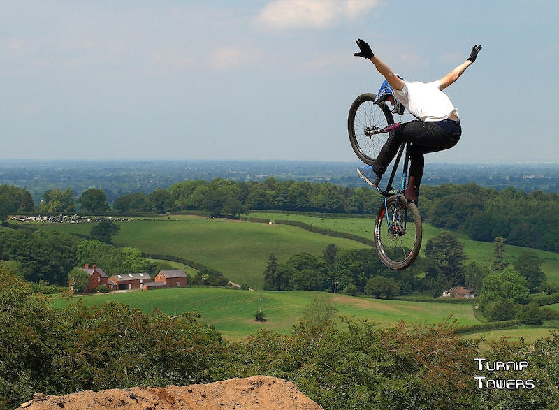 This was taken the first time I went to MTB Pursuits at Harthill to get some practice at photographing dirt-jumps. It overlooks the area around Chester, so is great for shots like this with a bit of scenery in the background.