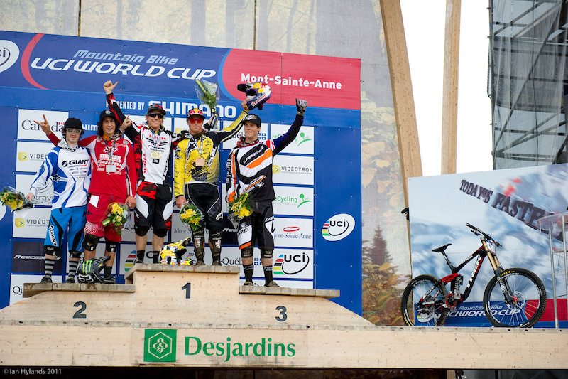 Mens Podium at Mt Saint Anne Aaron Gwin and a bunch of young uns...