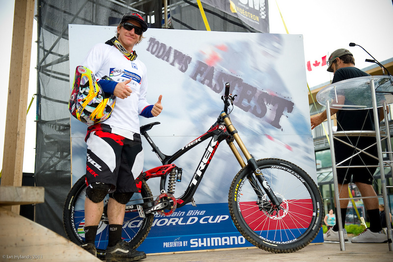 Aaron Gwin stoked on his win and the new bike