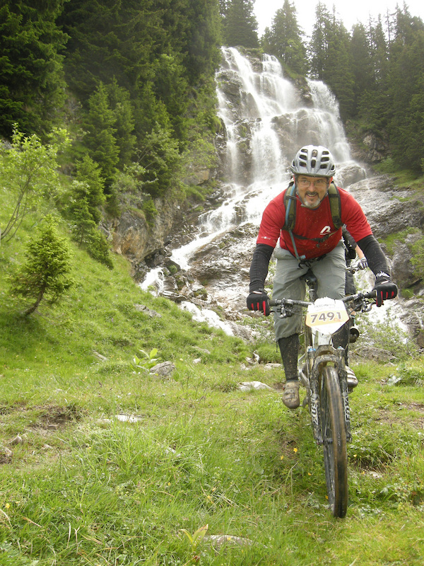Waterfall on Portes du Soleil route