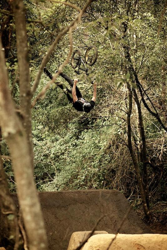 Unit BMX rider Josh Stead.... Backflip double can yea no worries haha. Photo Raine Turnbull