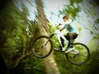 one of my first jumps on the commencal