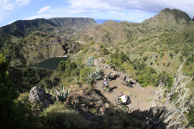amazing trails in the mountains fo La Gomera Trek Gravity Girls D.Geiger