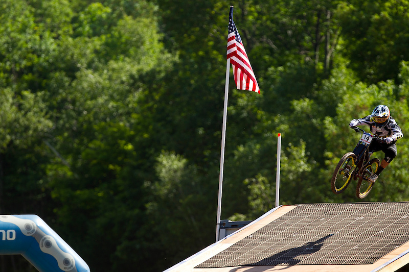 during the 5th UCI World Cup DH Windham NY USA. Photo by Sven Martin