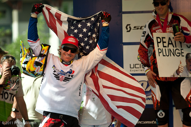 3 in a row and 4 for the Season for Aaron Gwin. He also won the first US gold at a world cup at home since Missy Giopve and Shaun Palmer in 99 at Big Bear. Gwinning indeed.