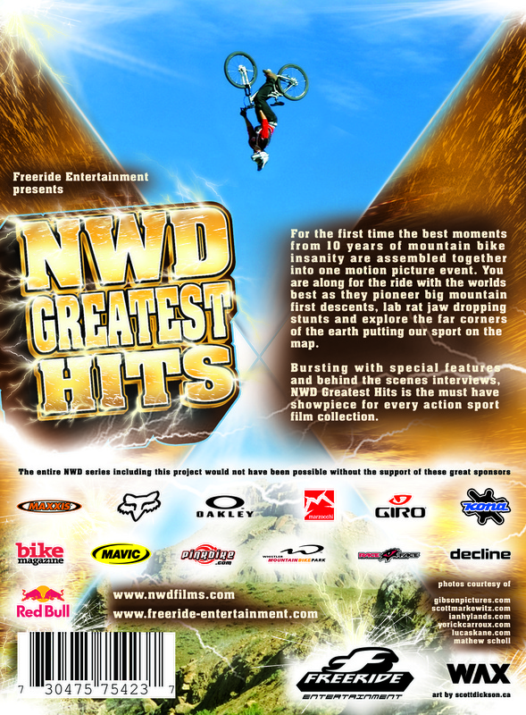 Rear Cover Art for NWD Greatest Hits