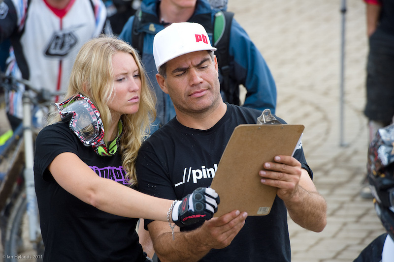 Our roving reporters hard at work covering Crankworx for you...