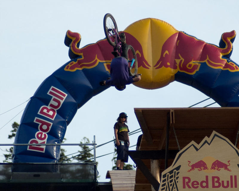 Crankworx 2011 Joyride Finals. Front flip off the first drop - insane.