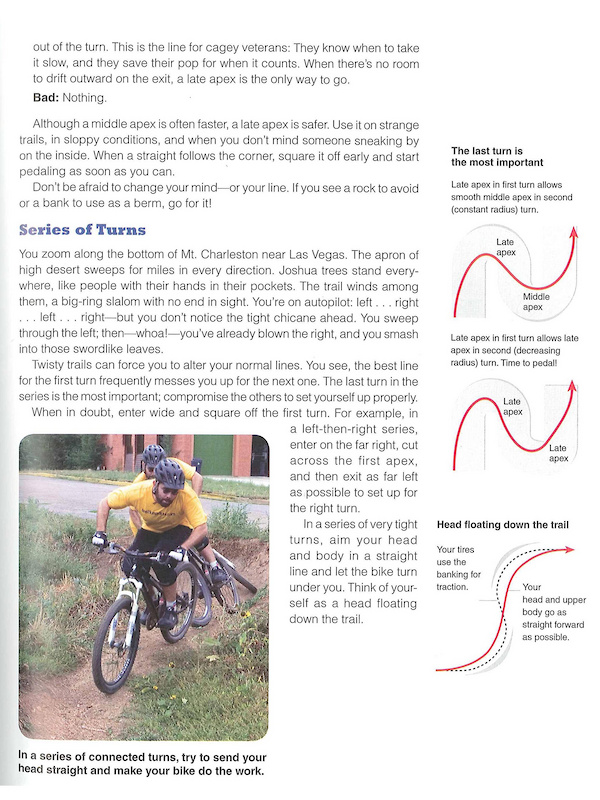 Sample from Mastering Mountaing Bike Skils Second Edition