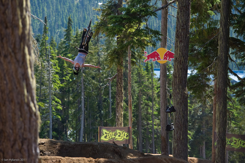 Sam Pilgrim killing it on his first run with a nice stretched out flip tuck no hander.