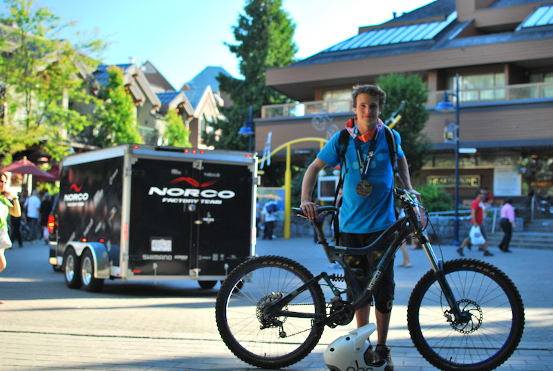 Silver medal in Canadian Open Enduro 2011 Crankworx and all the POC and Norco equipment i raced with. Photo by Chris Stark
