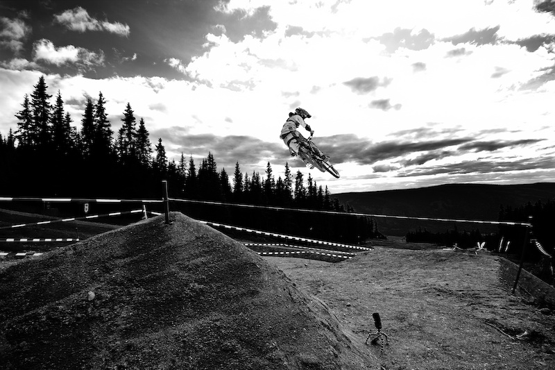Pre-contest riding in Hafjell