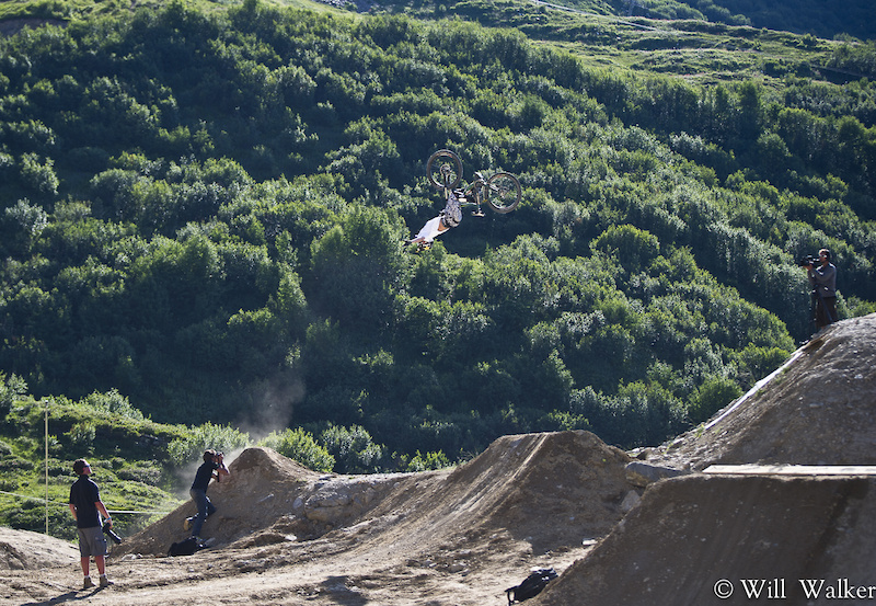 Kurt Sorge pushing mountain biking... HUGE backflip no-hander