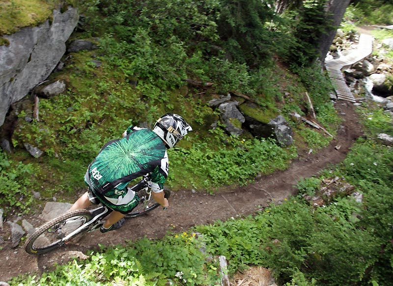 5 000 foot shuttled downhill in Revelstoke. For a Pinkbike article.
