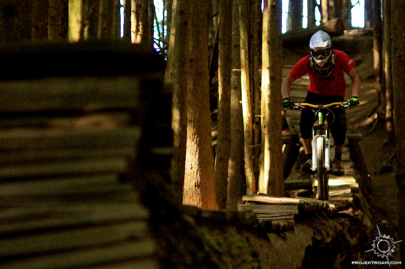 Colt Maule riding a rad logride in Bellingham WA while filming for Projekt Roam Chasing Gravity-Episode 3.