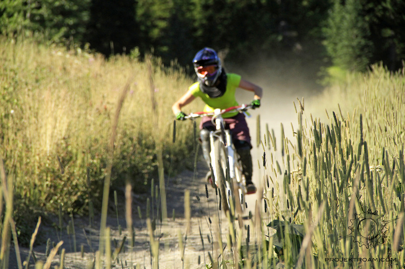 Jessee Maule riding in Kamloops BC.