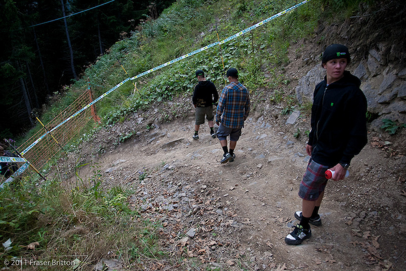 It s hard to really show how steep this track is. Maybe this left hander will help convey it.