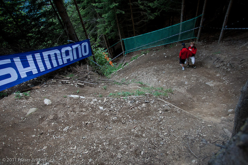 The only problemi s that it s even steeper and more cut up than last year. And the landing is a LONG way down there.
