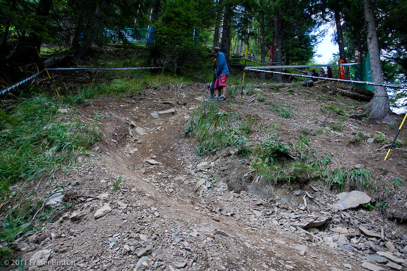 Oh look A tight steep switchback. If you re riding this course you need to get used to these. There s a few dozen of them waiting for you.